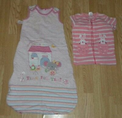 Baby Girls Sleeping Bag & Fleecy Sleepsuit Bundle 12-18 Months