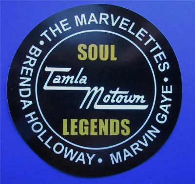 Northern Soul Record Box Sticker - Tamla Motown - Soul Legends
