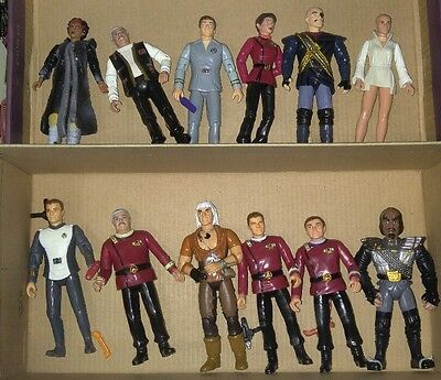STAR TREK Playmates Figures Lot of 12 with Accessories - Khan V'Ger and More!
