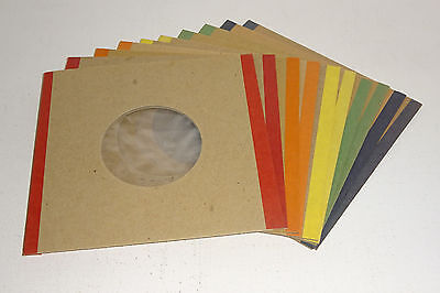 "10 x POLY-LINED THICK CARD REPLACEMENT SLEEVES for 7"" VINYL 45rpm SINGLES"