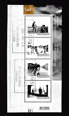 #340-Canada used 2015 souvenir sheet, 150 yrs of photography