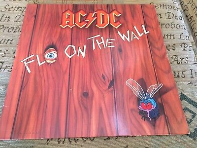 ACDC Fly On The Wall + Inner Sleeve Rare Original German LP !