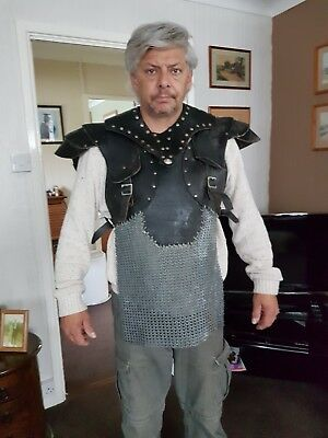 Leather bib Chainmail Game of Thrones Gladiator Live action role play S.O.C
