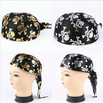 Cappello Bandana Halloween Pirata Teschio Horror Uomo Donna