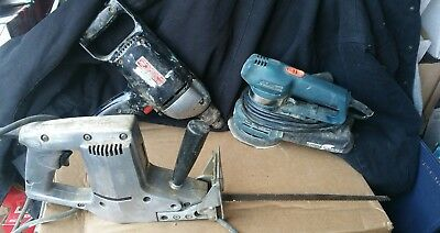 "1/2"" Drill / Disc Sander / Long Saw Power Tool Lot"