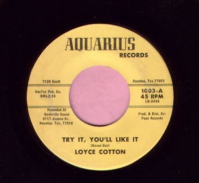 "Loyce Cotton "" Try It , You'll Like It "" Aquarius Records 70's Soul Listen"