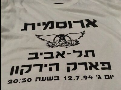 Aerosmith Crew Staff Shirt Tel Aviv *Rare Never Worn