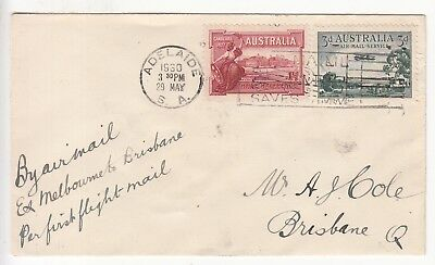 Australia; Airmail First Flight Mail; Adelaide-Melbourne-Brisbane, 29 May 1930