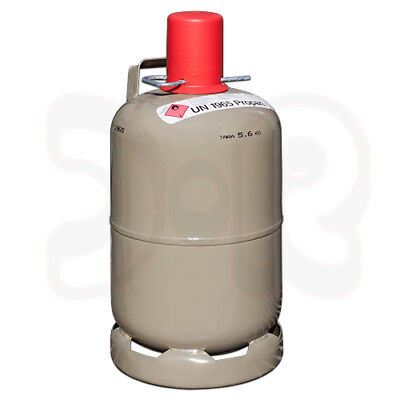 NEUE 5 kg Propan Gasflasche grau, leer, MADE IN GERMANY, Camping Heizen Grill