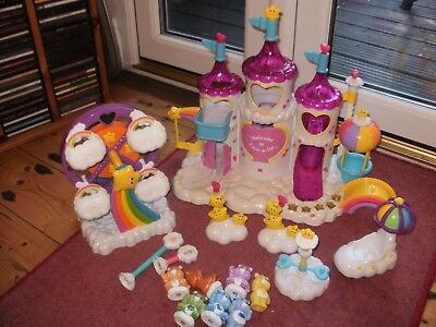 CARE BEARS Care A Lot MAGICAL CASTLE Playset w/ LIGHTS/SOUNDS & FERRIS WHEEL