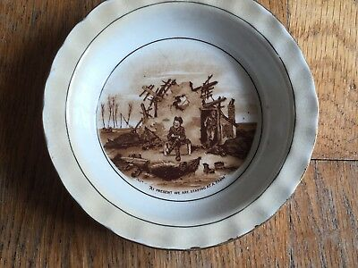Bruce Bairnsfather Old Bill Bowl / Dish By Grimwades, Staying at the Farm