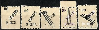 750 - Philippines - 1898 -  Local Provisionals - Forgeries - Faux