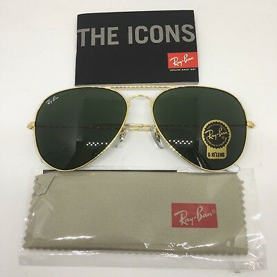 Ray-Ban RB3025 L0205 Aviator Gold Frame with G-15 Green Lens 58mm