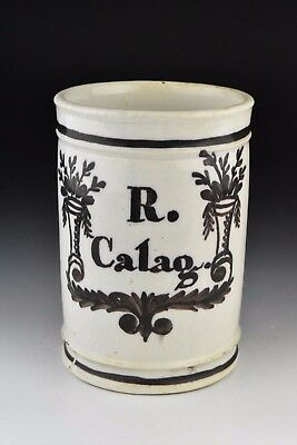 18th / 19th Century Delft Pottery R. Calag. Apothecary Jar