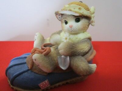 """Vintage Calico Kittens Figurine """"YOU'RE GOOD FOR MY SOLE"""" 1997 P Hillman #314544"""