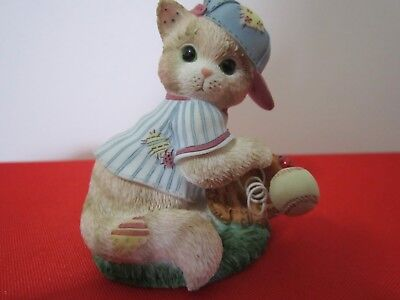 Vintage Calico Kittens Figurine YOU'RE AN ALL-STAR FRIEND 1998 P Hillman #454621