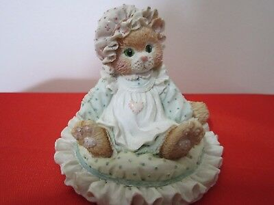 Vintage Calico Kittens Figurine JUST THINKING ABOUT YOU 1992 P. Hillman # 627917