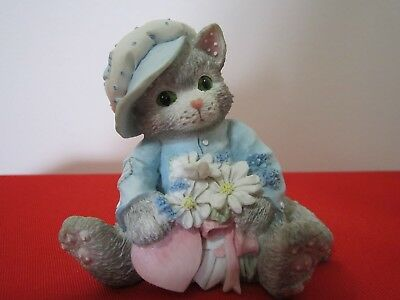 Vintage Calico Kittens Figurine MY LOVE BLOSSOMS FOR YOU 1994 P Hillman # 102547