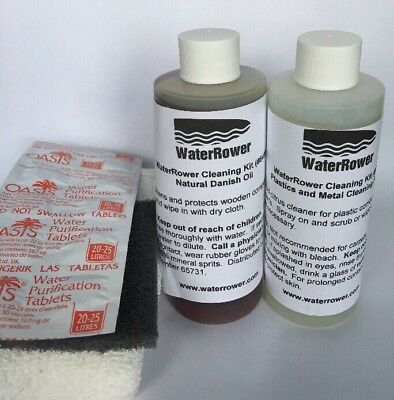 WaterRower Cleaning Kit Brand New Incl Danish Oil & 10 x Purification Tablets