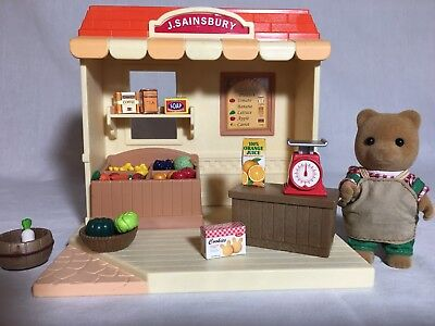 Calico critters/sylvanian families J Sainsbury Grocery Market With Seller