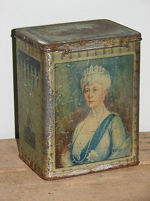 Vintage Royal Family 1935 King George V Silver Jubilee Tin Worn And Rusty