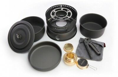 10 in 1 Camping Cookware Bowl Sets Outdoor Portable Travel Tableware Set