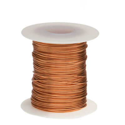"18 AWG Gauge Bare Copper Wire Buss Wire 100' Length 0.0403"" Natural"