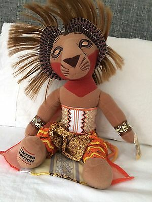 The Lion King Musical collection Limited Edition Simba soft toy