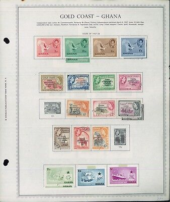 1957-1973 Ghana Mint & Used Postage Stamp Collection on Album Pages Value $440