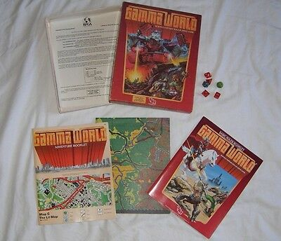 TSR Gamma World - Boxed Basic Rules / Adventure Book / Map (2nd edition) 1983