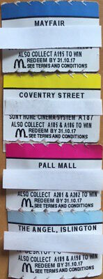 McDonalds Monopoly 4x Tokens Mayfair & Coventry Street & Pall Mall & Angel