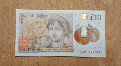 AA01 Ten Pound Note New Immaculate Condition