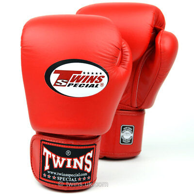Twins Boxing Gloves Red BGVL-3 Muay Thai Sparring Kickboxing MMA Training K1