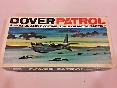 DOVER PATROL BOARD GAME  VINTAGE EDITION BY H P GIBSON -  COMPLETE in V.G.C