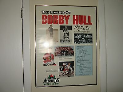 Bobby Hull Autographed Framed Poster-NICE !!