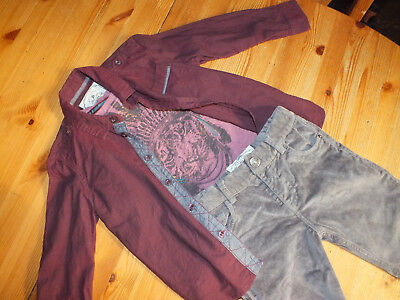 2x Mylene Klass TWINS Kids Trendy Designer Outfits Shirts Tees Trousers ages 3-4