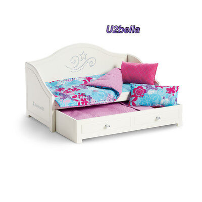 American Girl Trundle Bed and Bedding Set for Dolls NEW IN BOX