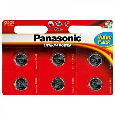 2 New Panasonic CR2032 Lithium Coin Cell 3V Battery Car Key Fobs Toys Remote