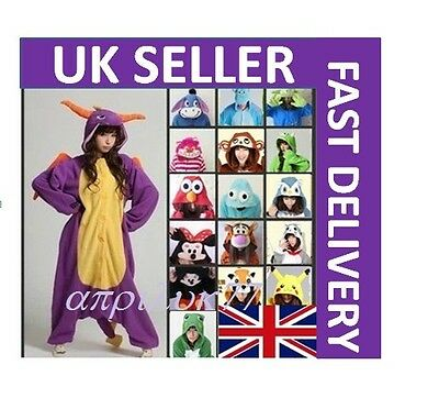 Unisex Adult Animal Onsie1 Onesie12 Anime Cosplay Pyjama Kigurumi Fancy Dress UK