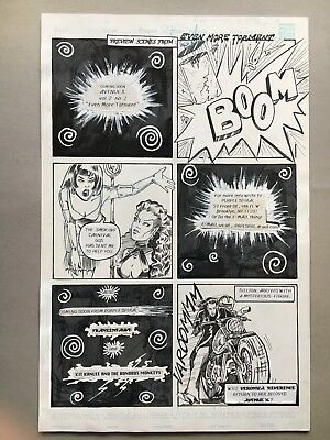 Avenue X #1, pg 27, 1992, original art by Chang, Preview page for issue #2
