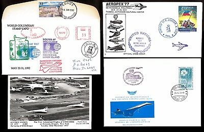 Collection Of Four Af Concorde Covers / Photo