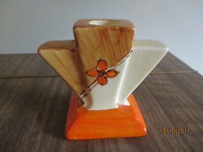 "Vintage Art Deco Candle Holder Myott. Son &co. 3"" Tall"