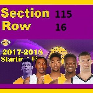 Los Angeles Lakers vs. New Orleans Pelicans Oct 22, 2017 Staples Center
