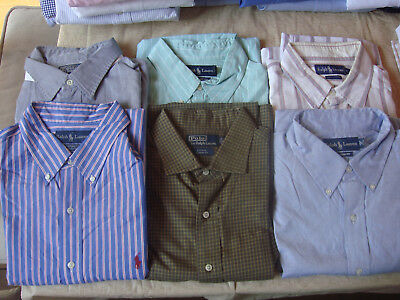Gently Used ~ 6 pc Lot RALPH LAUREN POLO Mens  Shirts ~ XL