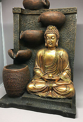 Karma - Indoor Designer Quality Buddha Water Fountain FREE SHIPPING Buy Now