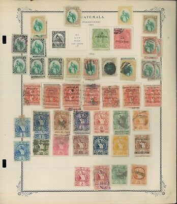 1871-1942 Guatemala Mint & Used Stamp Collection on Album Pages Value $1,610