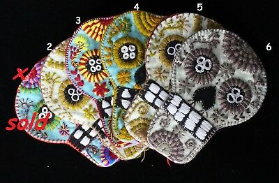 Day of the Dead Sugar Skull - SOLD SEPARATELY - Felt Hand Embroidered Mexico