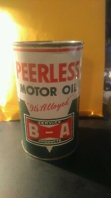 Peerless  Motor Oil Tin Can Extra Clean