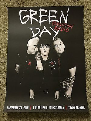 Green Day Radio Revolution Concert Poster From Philly At The Tower Theater 2016
