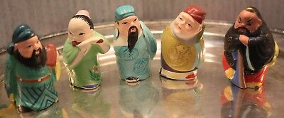 Cute Chinese Asian Men Figurine Figure Handpainted Lot Peoples Republic of China